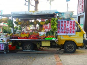 Fruit trucks are a welcome sight on a hot day.