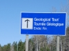geological tour sign